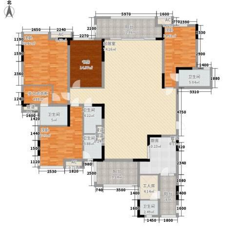 丰泰观山碧水二期别墅4室0厅5卫1厨302.00㎡户型图