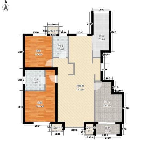 朗�骏景2室0厅2卫1厨115.00㎡户型图