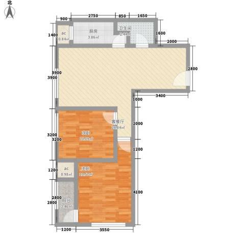 农委大院2室1厅1卫1厨83.00㎡户型图