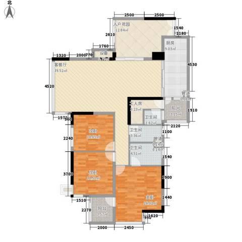明诚景怡苑3室1厅3卫1厨135.00㎡户型图