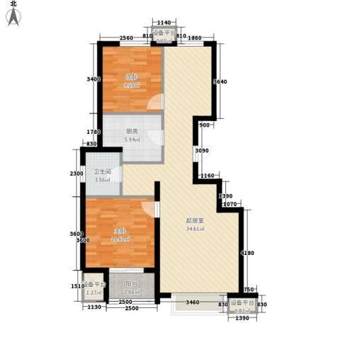 朗�骏景2室0厅1卫1厨98.00㎡户型图