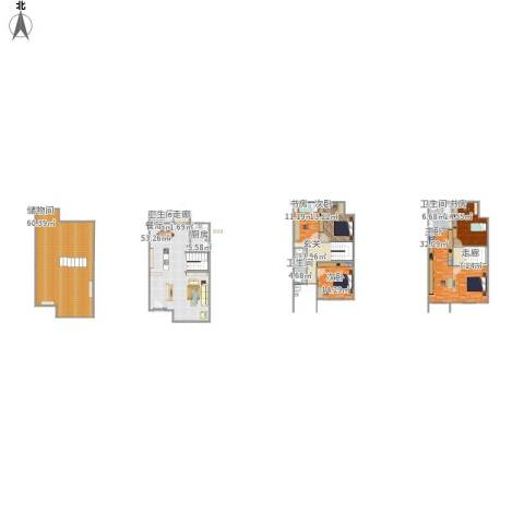 禹洲溪堤尚城5室1厅3卫1厨252.45㎡户型图