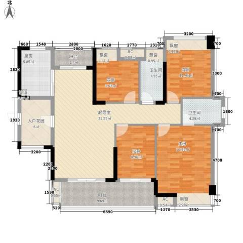 保利林语4室0厅2卫1厨137.00㎡户型图