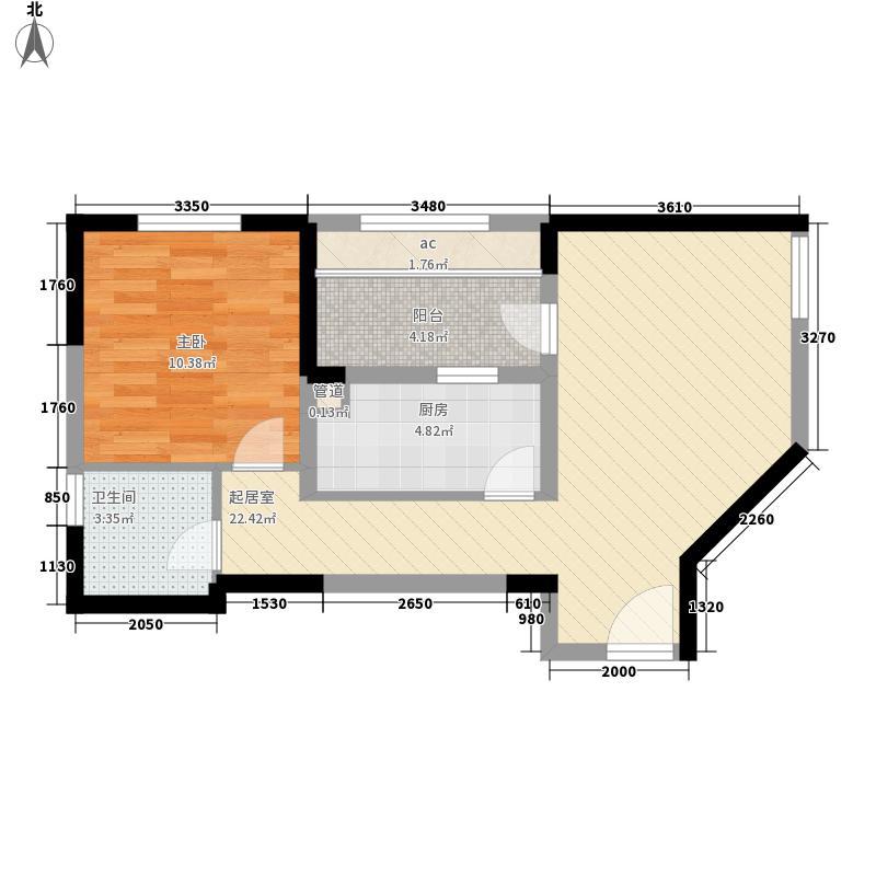 高成天鹅湖69.00㎡D户型1室2厅