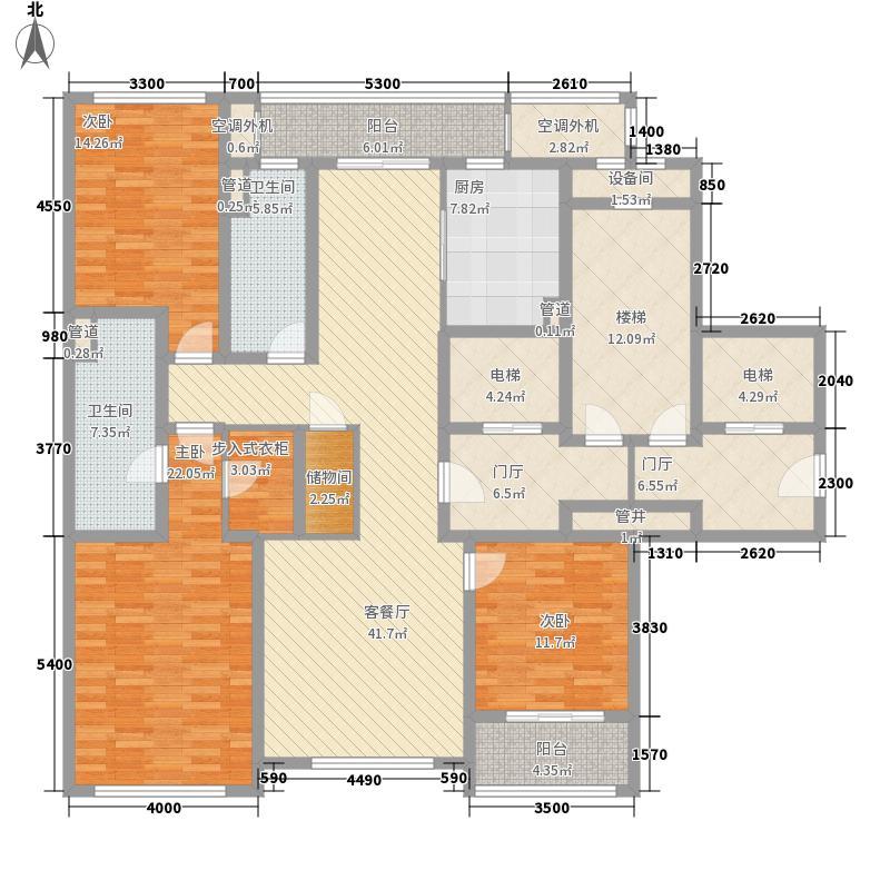 绿城西溪诚园169.00㎡B-2中间套户型3室2厅
