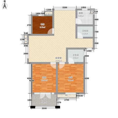 金色港湾3室0厅2卫1厨106.00㎡户型图