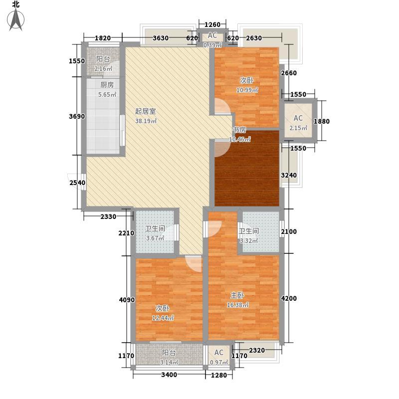 平阳府第152.00㎡平阳府第户型图2#A户型4室2厅2卫1厨户型4室2厅2卫1厨