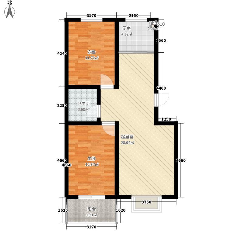 御沁园93.05㎡御沁园户型图B2室2厅1卫1厨93.05㎡户型2室2厅1卫1厨