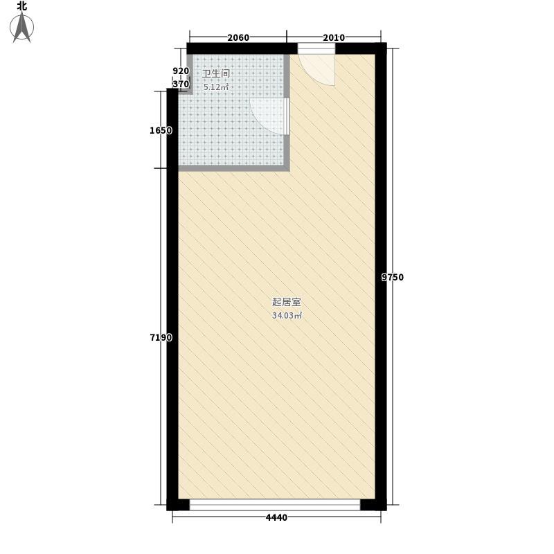 铂晶时代53.76㎡铂晶时代户型图1室1厅1卫1厨户型10室