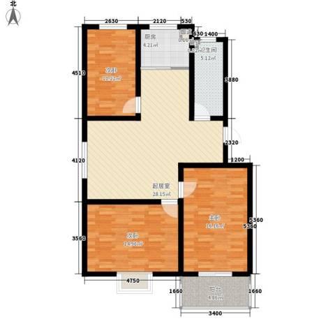 御沁园3室0厅1卫1厨120.00㎡户型图