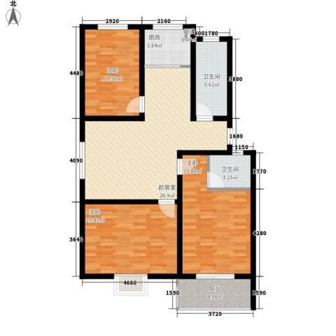 御沁园3室0厅2卫1厨124.00㎡户型图