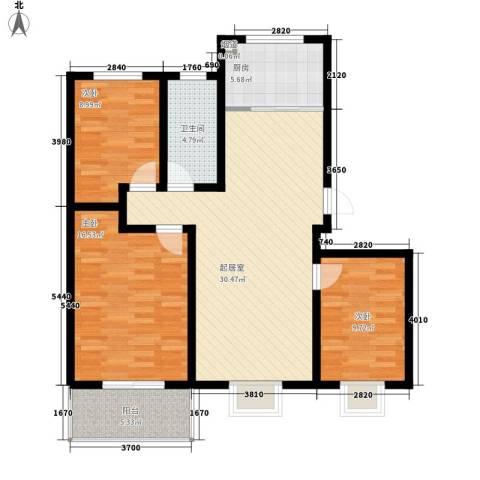 御沁园3室0厅1卫1厨117.00㎡户型图