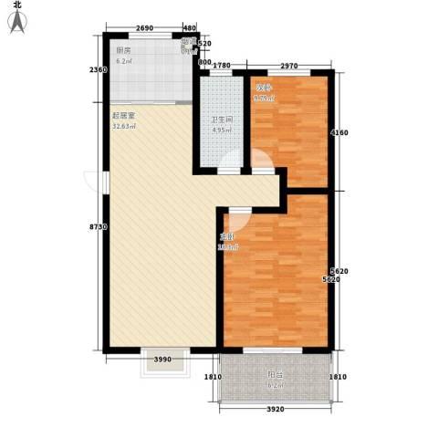 御沁园2室0厅1卫1厨101.00㎡户型图