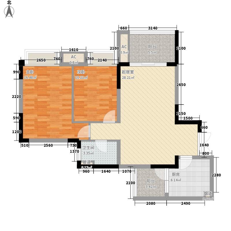 瑞安雍江翠湖一期8、9号楼标准层1号房户型