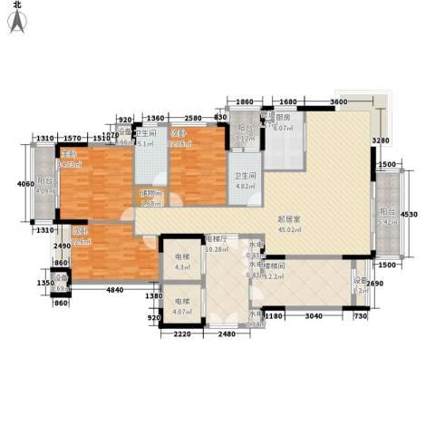 滨江一号3室0厅2卫1厨149.58㎡户型图