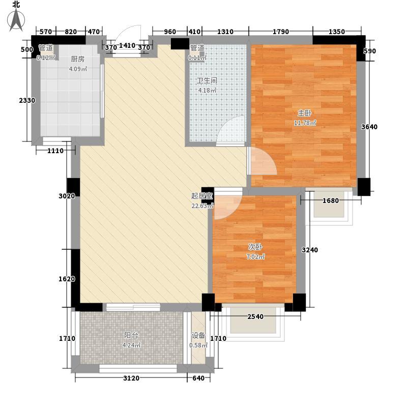 金辉天鹅湾一期79.00㎡金辉天鹅湾一期2室户型2室