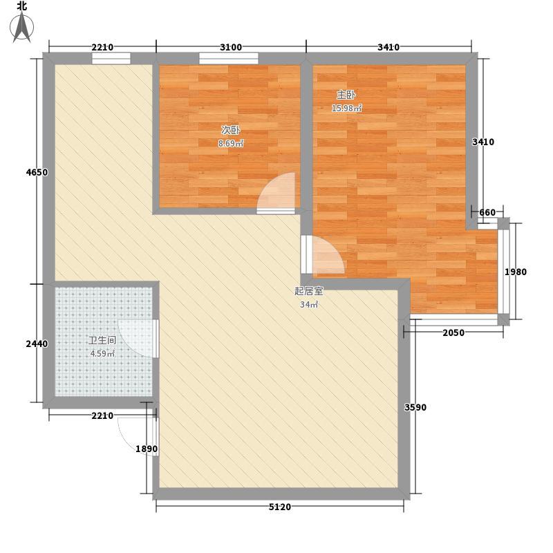 沈阔家园88.08㎡沈阔家园户型图2室2厅1卫户型10室