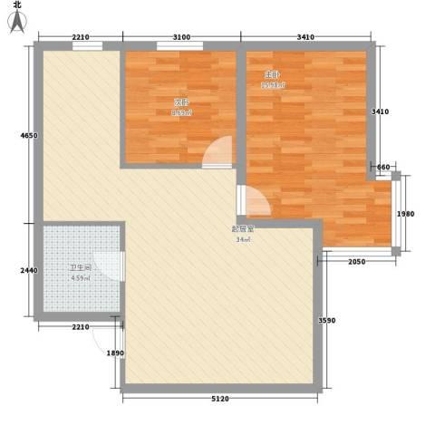 沈阔家园2室0厅1卫0厨88.00㎡户型图