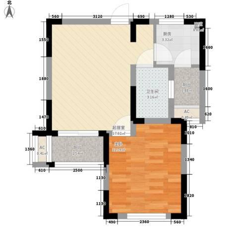 世茂蝶湖湾别墅1室0厅1卫1厨222.00㎡户型图