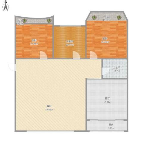盛世花园2室2厅1卫1厨171.00㎡户型图