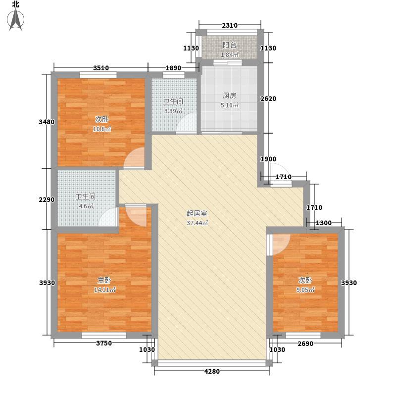 沈阔家园122.00㎡沈阔家园户型图3室2厅2卫户型10室