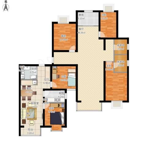 夏威夷・蓝湾5室1厅1卫2厨208.00㎡户型图