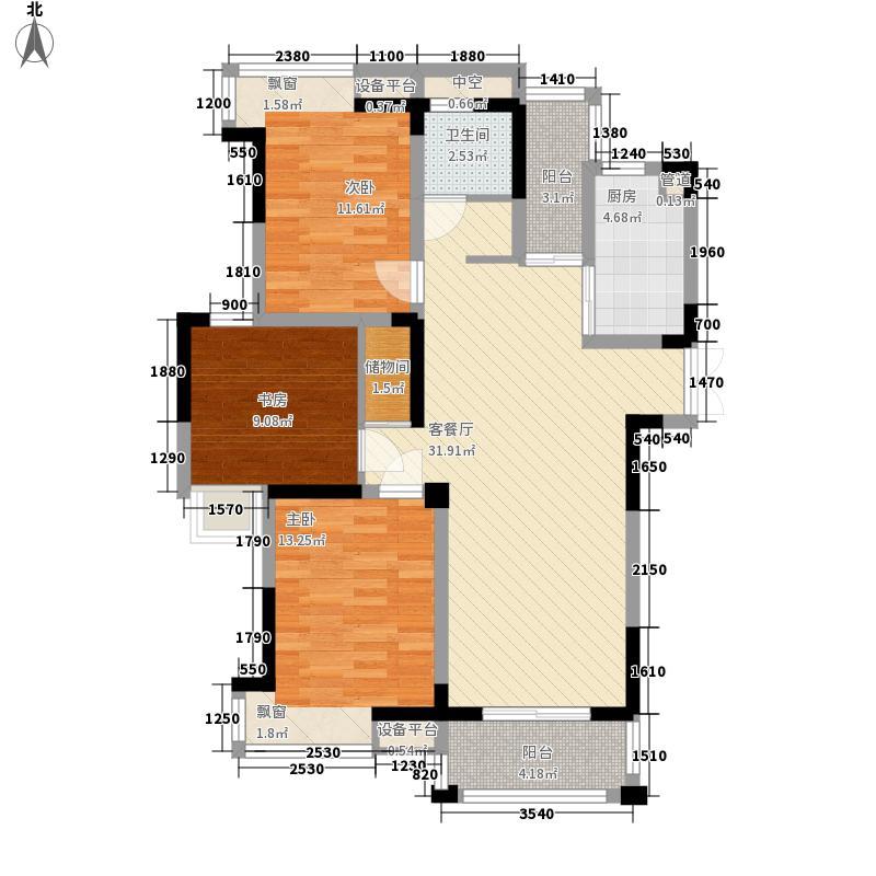 君悦蓝庭122.00㎡君悦蓝庭户型图E户型3室2厅1卫1厨户型3室2厅1卫1厨