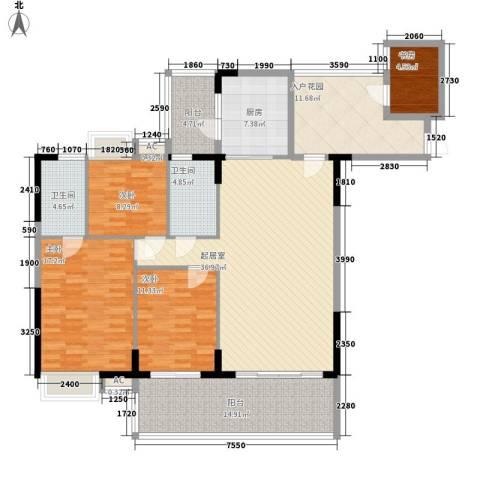 骊雅居4室0厅2卫1厨179.00㎡户型图