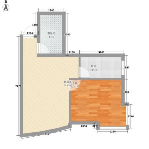沈阔家园1室0厅1卫1厨60.00㎡户型图