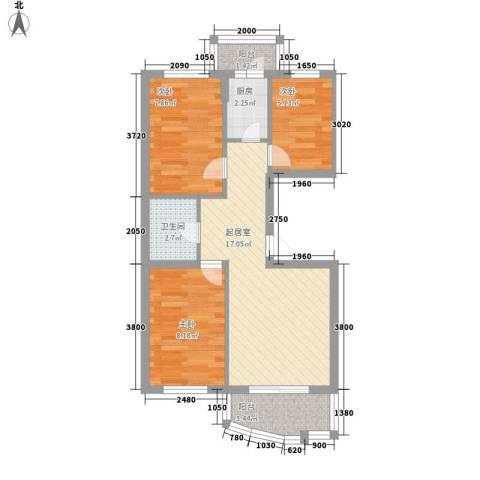 南京花园3室0厅1卫1厨70.00㎡户型图