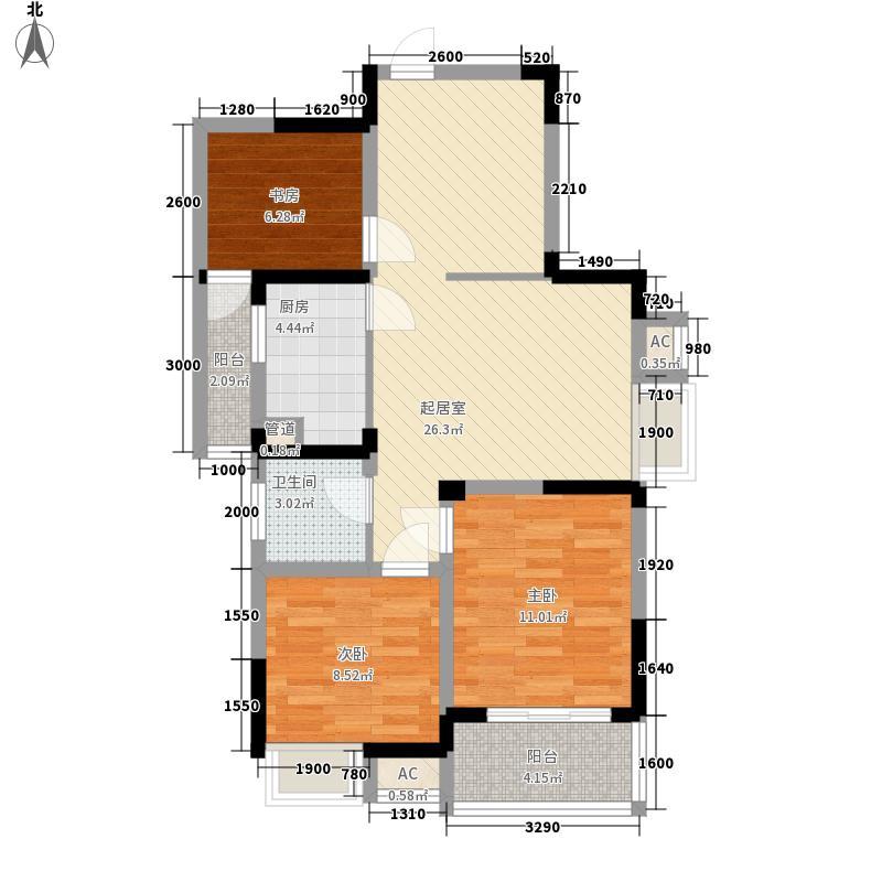 恒缘时代广场89.74㎡恒缘时代广场户型图G4户型3室2厅1卫1厨户型3室2厅1卫1厨