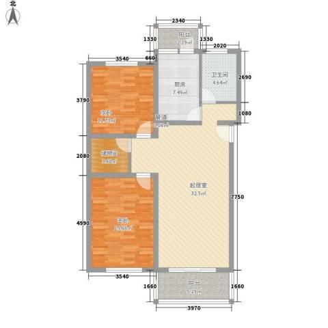祥和尊邸2室0厅1卫1厨105.00㎡户型图