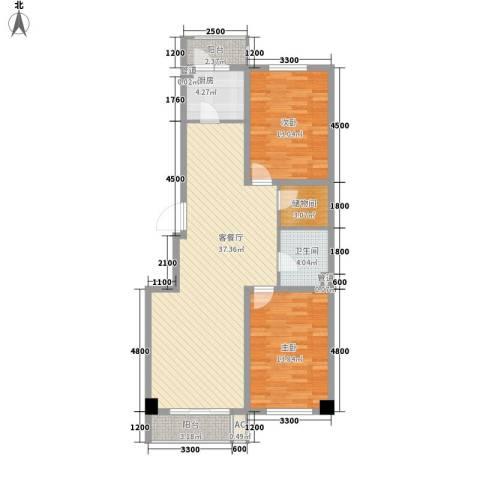瑞盛佳园2室1厅1卫1厨112.00㎡户型图