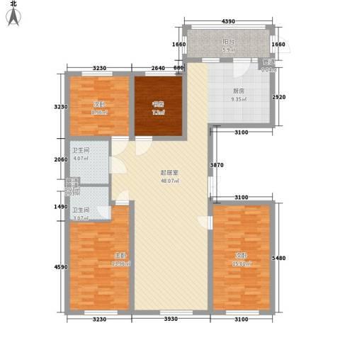 中铁嘉园4室0厅2卫0厨121.00㎡户型图