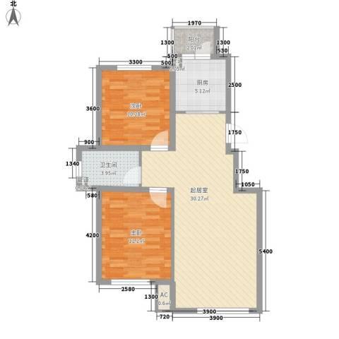 国安宜居2室0厅1卫1厨92.00㎡户型图