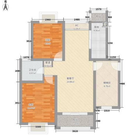 上海花园别墅2室1厅1卫1厨99.00㎡户型图