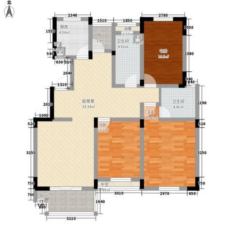 中天品园别墅3室0厅2卫1厨135.00㎡户型图