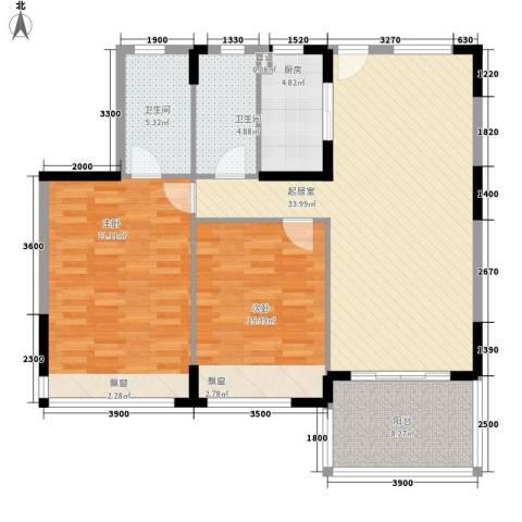 森林湖2室0厅2卫1厨114.00㎡户型图