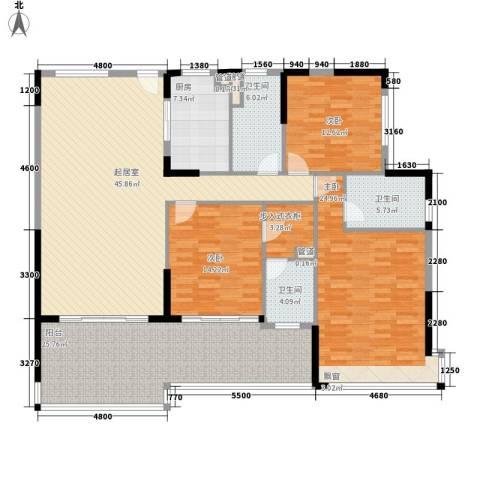 森林湖3室0厅3卫1厨178.00㎡户型图