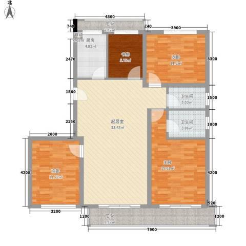 榕信东苑4室0厅2卫1厨120.00㎡户型图