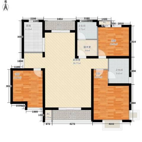 水木清华三期3室0厅2卫1厨149.00㎡户型图