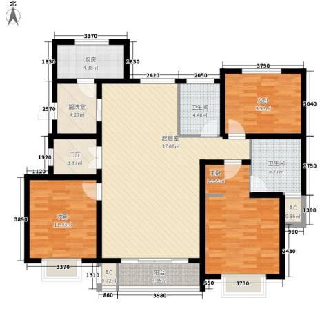 水木清华三期3室0厅2卫1厨148.00㎡户型图