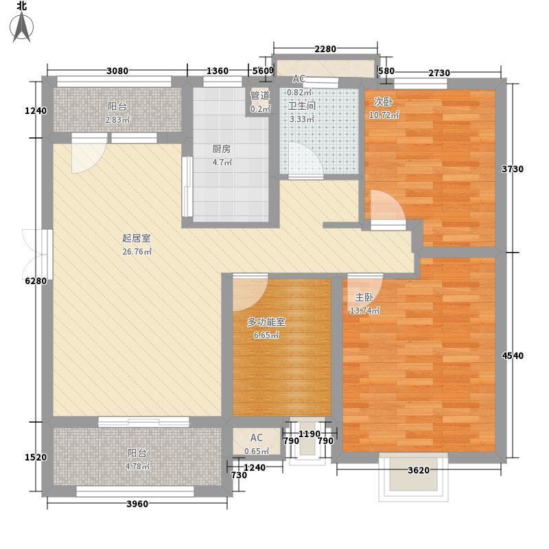 江阴五洲国际广场107.65㎡江阴五洲国际广场户型图C1户型2室2厅1卫1厨户型2室2厅1卫1厨