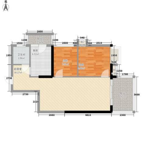 骊雅居2室0厅1卫1厨95.00㎡户型图
