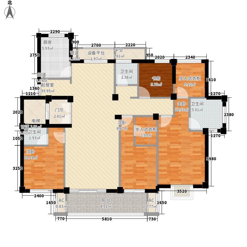 格兰郡庭18.00㎡F户型4室2厅3卫1厨