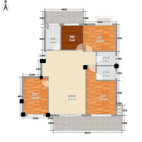 榕信东苑4室0厅2卫1厨159.00㎡户型图