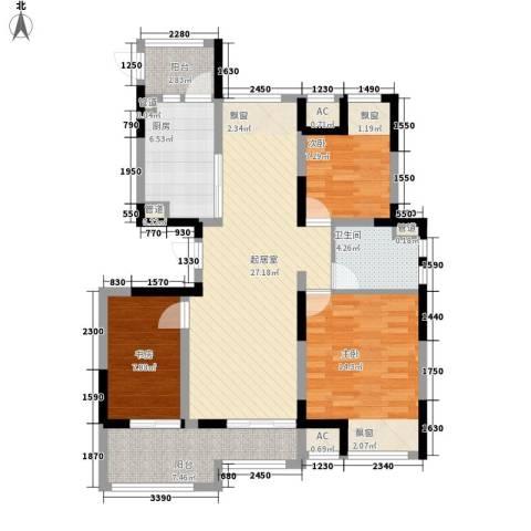 江城国际3室0厅1卫1厨117.00㎡户型图