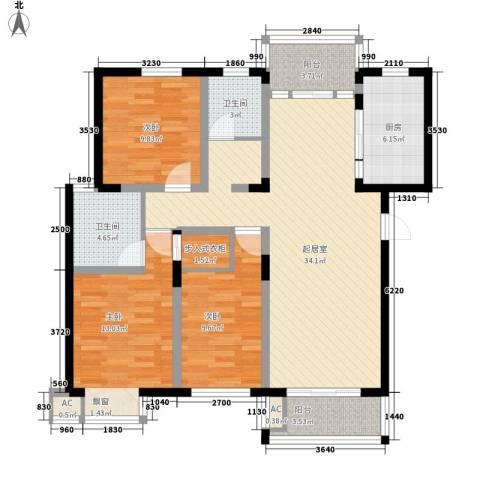 沁园小区3室0厅2卫1厨180.00㎡户型图