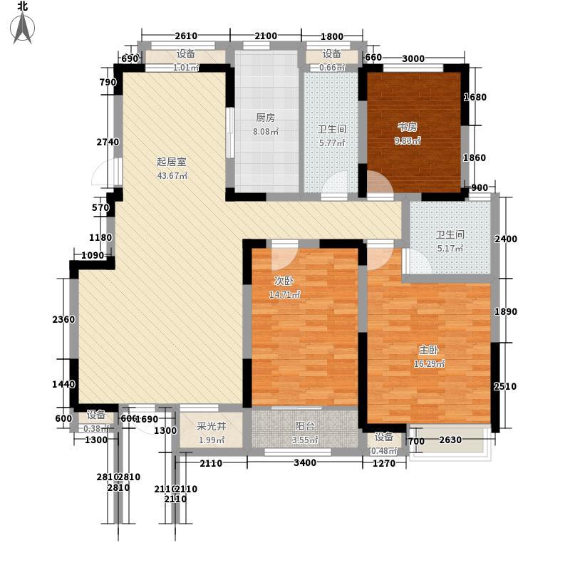 心泊馨城136.84㎡一期4-11号楼标准层s1'户型