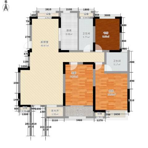 心泊馨城3室0厅2卫1厨137.00㎡户型图